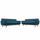 Modway Engage Loveseat and Sofa Upholstered Fabric Set of 2 in Azure MY-EEI-1348-AZU