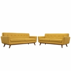 Modway Engage Loveseat and Sofa Upholstered Fabric Set of 2 in Citrus MY-EEI-1348-CIT