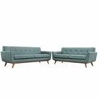 Modway Engage Loveseat and Sofa Upholstered Fabric Set of 2 in Laguna MY-EEI-1348-LAG