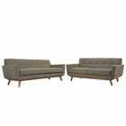 Modway Engage Loveseat and Sofa Upholstered Fabric Set of 2 in Oat MY-EEI-1348-OAT