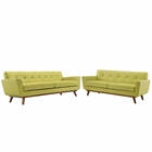 Modway Engage Loveseat and Sofa Upholstered Fabric Set of 2 in Wheat MY-EEI-1348-WHE