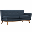 Modway Engage Right-Arm Upholstered Fabric Loveseat in Azure MY-EEI-1792-AZU