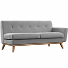Modway Engage Right-Arm Upholstered Fabric Loveseat in Expectation Gray MY-EEI-1792-GRY