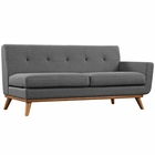 Modway Engage Right-Arm Upholstered Fabric Loveseat in Gray MY-EEI-1792-DOR