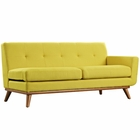 Modway Engage Right-Arm Upholstered Fabric Loveseat in Sunny MY-EEI-1792-SUN