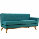 Modway Engage Right-Arm Upholstered Fabric Loveseat in Teal MY-EEI-1792-TEA