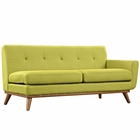 Modway Engage Right-Arm Upholstered Fabric Loveseat in Wheatgrass MY-EEI-1792-WHE
