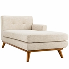 Modway Engage Right-Facing Upholstered Fabric Chaise in Beige MY-EEI-1794-BEI