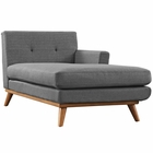 Modway Engage Right-Facing Upholstered Fabric Chaise in Gray MY-EEI-1794-DOR