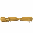 Modway Engage Sofa Loveseat and Armchair Upholstered Fabric Set of 3 in Citrus MY-EEI-1349-CIT