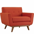 Modway Engage Upholstered Fabric Armchair in Atomic Red MY-EEI-1178-ATO