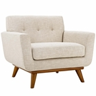 Modway Engage Upholstered Fabric Armchair in Beige MY-EEI-1178-BEI