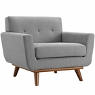 Modway Engage Upholstered Fabric Armchair in Expectation Gray MY-EEI-1178-GRY
