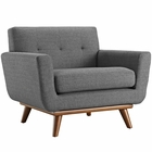 Modway Engage Upholstered Fabric Armchair in Gray MY-EEI-1178-DOR