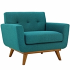 Modway Engage Upholstered Fabric Armchair in Teal MY-EEI-1178-TEA