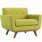 Modway Engage Upholstered Fabric Armchair in Wheatgrass MY-EEI-1178-WHE