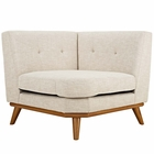 Modway Engage Upholstered Fabric Corner Sofa in Beige MY-EEI-1796-BEI