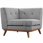 Modway Engage Upholstered Fabric Corner Sofa in Expectation Gray MY-EEI-1796-GRY