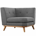 Modway Engage Upholstered Fabric Corner Sofa in Gray MY-EEI-1796-DOR