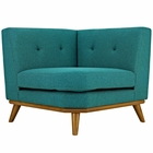 Modway Engage Upholstered Fabric Corner Sofa in Teal MY-EEI-1796-TEA
