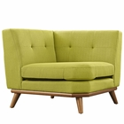 Modway Engage Upholstered Fabric Corner Sofa in Wheatgrass MY-EEI-1796-WHE