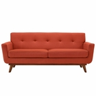 Modway Engage Upholstered Fabric Loveseat in Atomic Red MY-EEI-1179-ATO