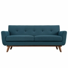 Modway Engage Upholstered Fabric Loveseat in Azure MY-EEI-1179-AZU