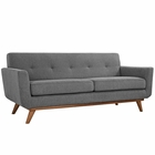 Modway Engage Upholstered Fabric Loveseat in Expectation Gray MY-EEI-1179-GRY