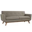 Modway Engage Upholstered Fabric Loveseat in Granite MY-EEI-1179-GRA