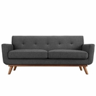 Modway Engage Upholstered Fabric Loveseat in Gray MY-EEI-1179-DOR