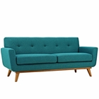 Modway Engage Upholstered Fabric Loveseat in Teal MY-EEI-1179-TEA