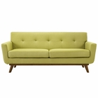 Modway Engage Upholstered Fabric Loveseat in Wheatgrass MY-EEI-1179-WHE