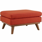 Modway Engage Upholstered Fabric Ottoman in Atomic Red MY-EEI-1797-ATO