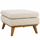 Modway Engage Upholstered Fabric Ottoman in Beige MY-EEI-1797-BEI