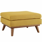 Modway Engage Upholstered Fabric Ottoman in Citrus MY-EEI-1797-CIT