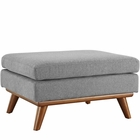 Modway Engage Upholstered Fabric Ottoman in Expectation Gray MY-EEI-1797-GRY
