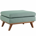 Modway Engage Upholstered Fabric Ottoman in Laguna MY-EEI-1797-LAG