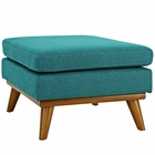 Modway Engage Upholstered Fabric Ottoman in Teal MY-EEI-1797-TEA