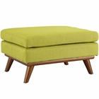 Modway Engage Upholstered Fabric Ottoman in Wheatgrass MY-EEI-1797-WHE