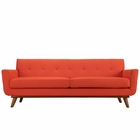 Modway Engage Upholstered Fabric Sofa in Atomic Red MY-EEI-1180-ATO