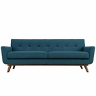 Modway Engage Upholstered Fabric Sofa in Azure MY-EEI-1180-AZU