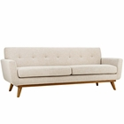 Modway Engage Upholstered Fabric Sofa in Beige MY-EEI-1180-BEI