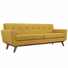 Modway Engage Upholstered Fabric Sofa in Citrus MY-EEI-1180-CIT