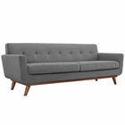 Modway Engage Upholstered Fabric Sofa in Expectation Gray MY-EEI-1180-GRY