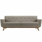 Modway Engage Upholstered Fabric Sofa in Granite MY-EEI-1180-GRA