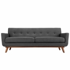 Modway Engage Upholstered Fabric Sofa in Gray MY-EEI-1180-DOR