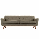 Modway Engage Upholstered Fabric Sofa in Oatmeal MY-EEI-1180-OAT