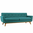 Modway Engage Upholstered Fabric Sofa in Teal MY-EEI-1180-TEA