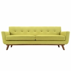 Modway Engage Upholstered Fabric Sofa in Wheatgrass MY-EEI-1180-WHE