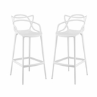 Modway Entangled Bar Stools Set of 2 in White MY-EEI-2349-WHI-SET